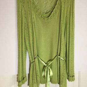 Spring green sweater set large Andre  Oliver